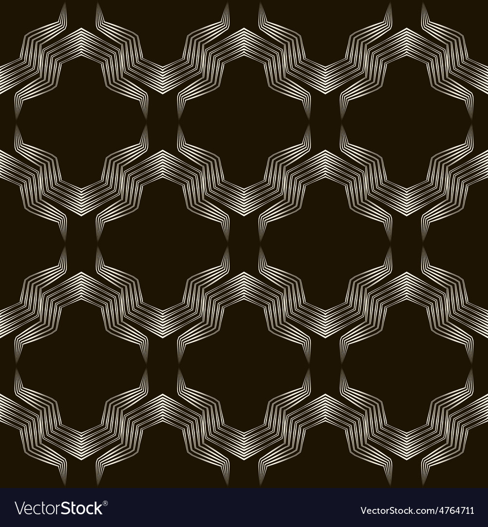 Seamless geometric ornament pattern stylish vector | Price: 1 Credit (USD $1)