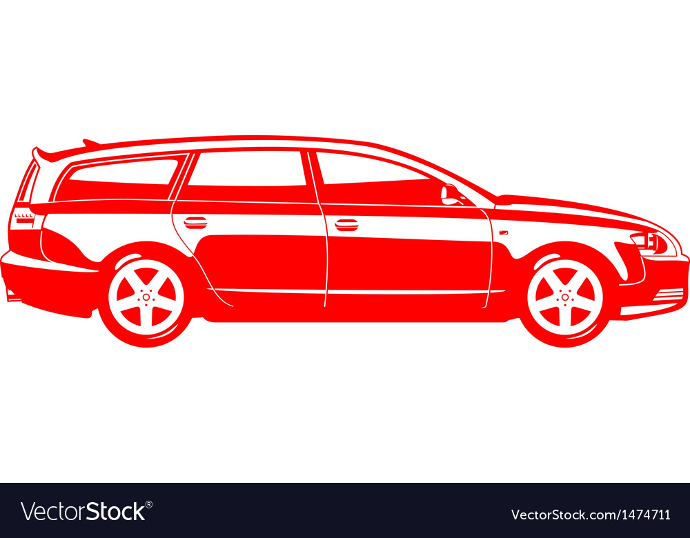Station wagon vector | Price: 1 Credit (USD $1)