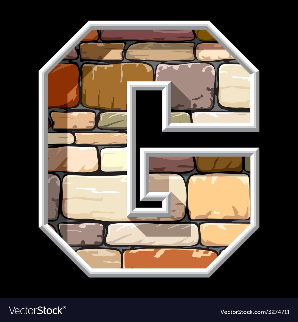 Stone letter g vector | Price: 1 Credit (USD $1)