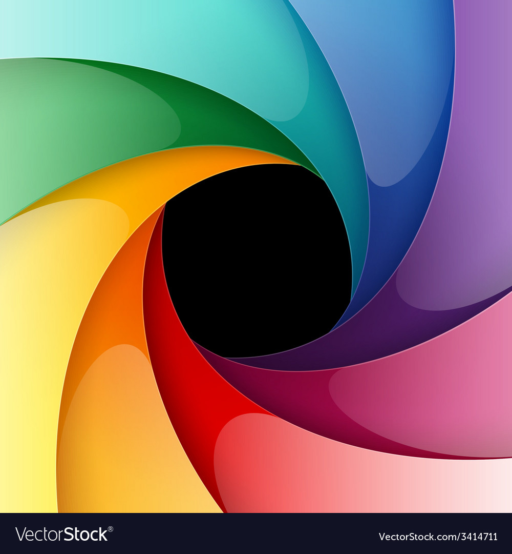 Swirly rainbow colorful shiny paper background vector | Price: 1 Credit (USD $1)