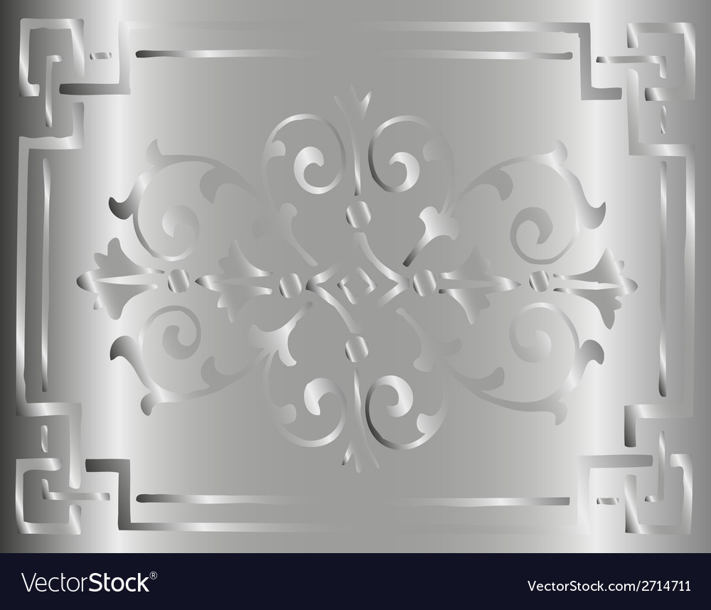 Vintage gray background design with border vector