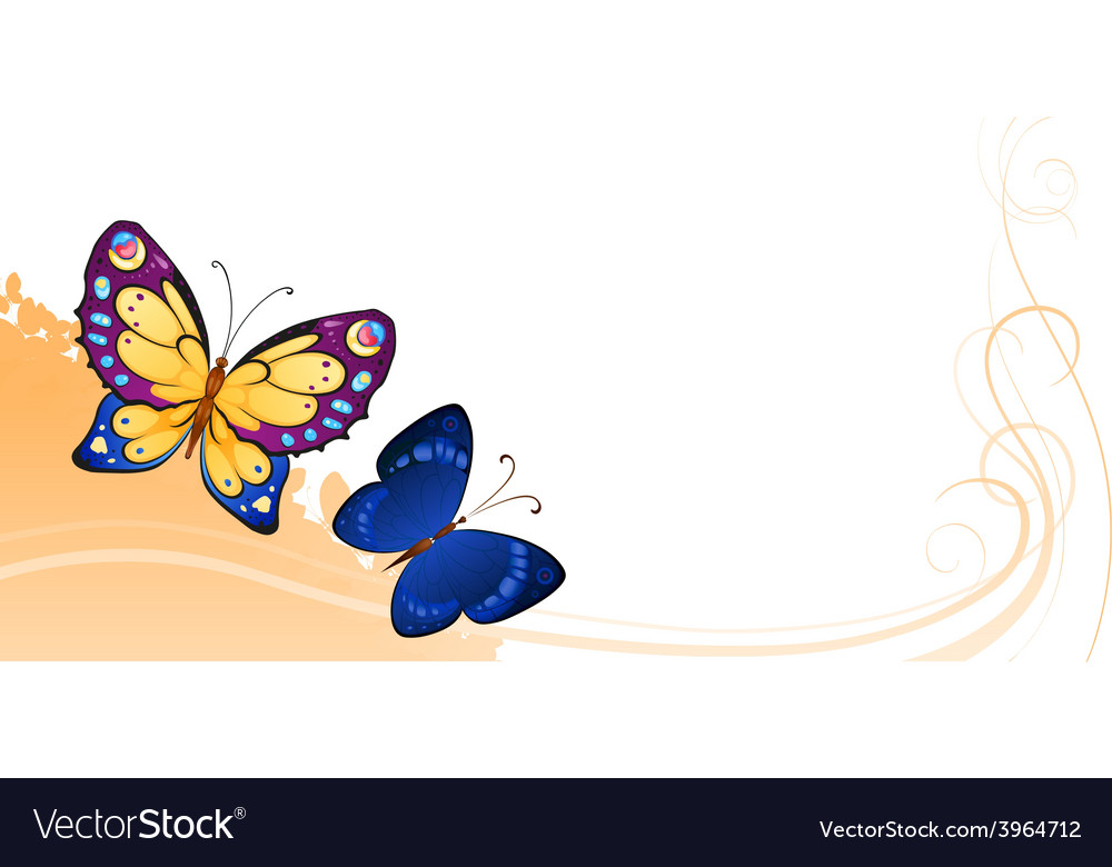 Background of colorful butterflies vector | Price: 1 Credit (USD $1)