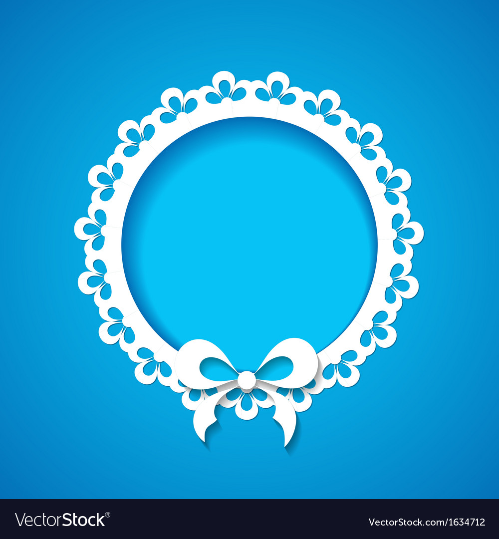 Blue background with a lacy frame vector | Price: 1 Credit (USD $1)