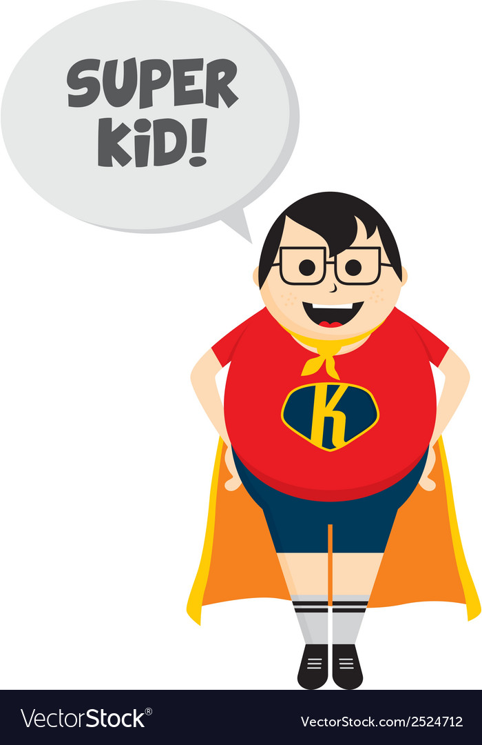 Cartoon dad as superhero vector | Price: 1 Credit (USD $1)