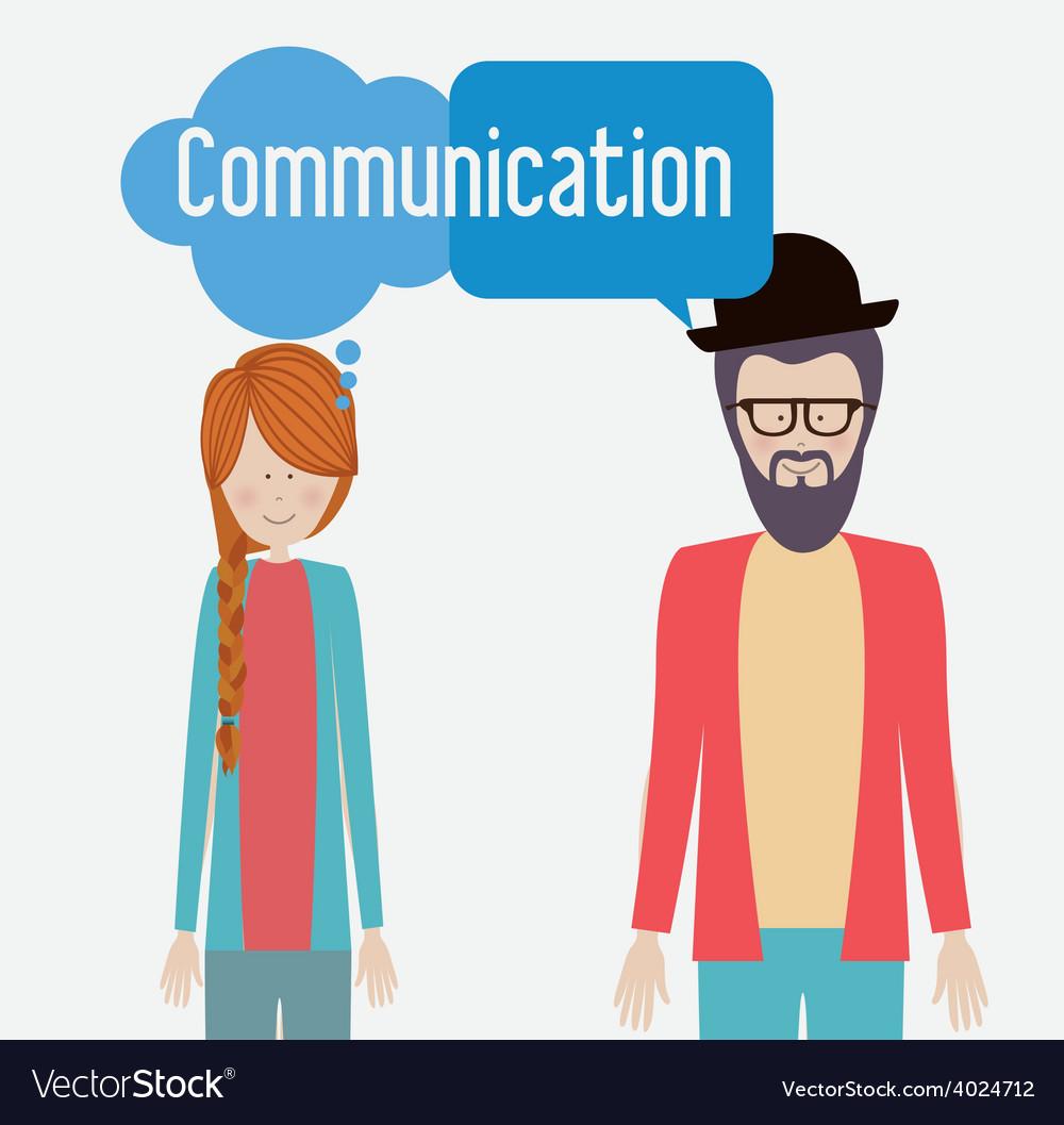 Communicate desing vector | Price: 1 Credit (USD $1)