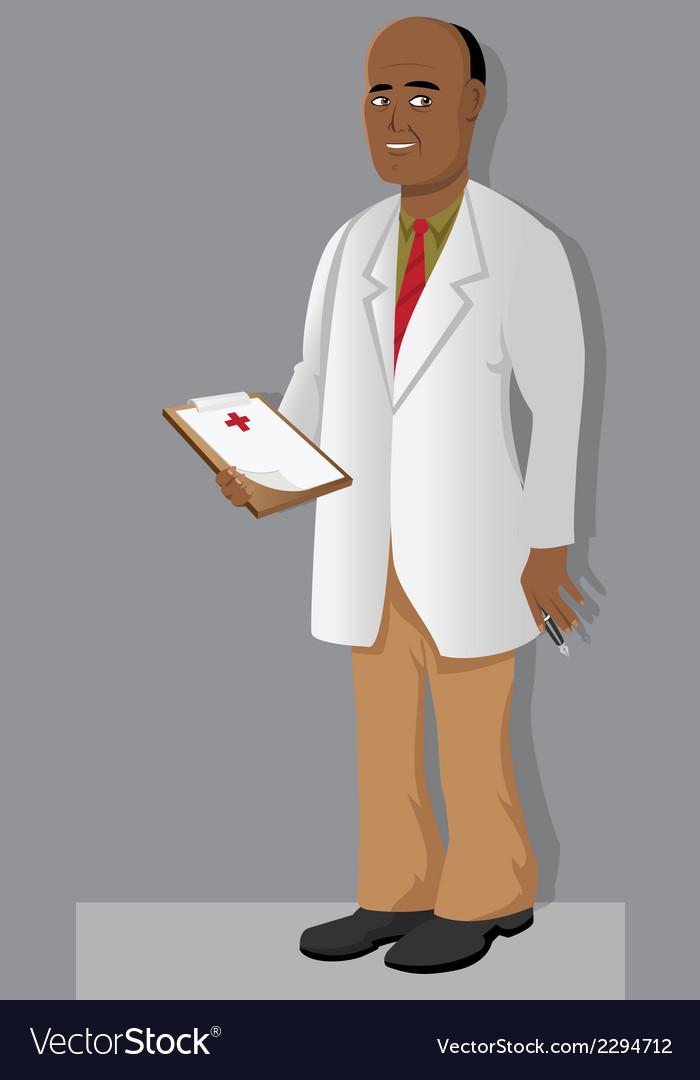 Doctor black clipboard vector | Price: 1 Credit (USD $1)
