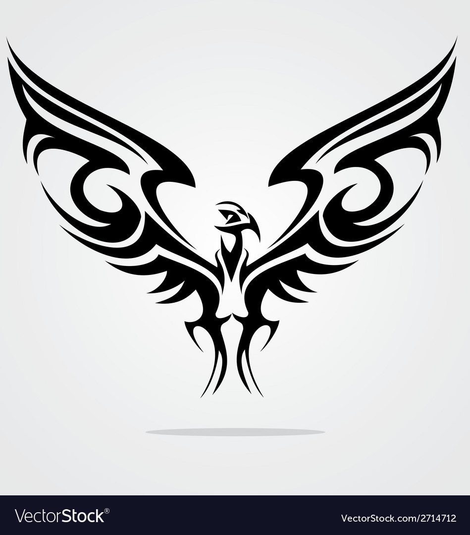 Eagle bird tattoo design vector | Price: 1 Credit (USD $1)