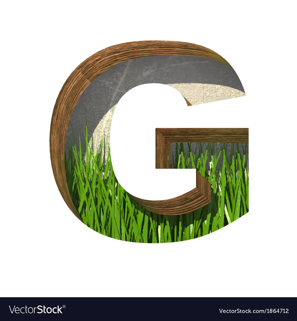 Grass cutted figure g paste to any background vector | Price: 1 Credit (USD $1)