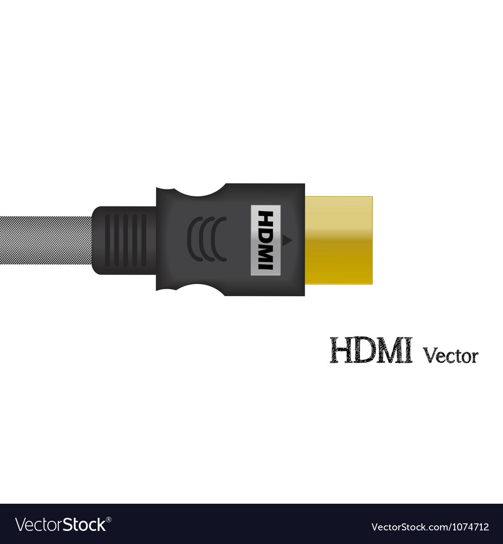 Hdmi signal test television of vector | Price: 1 Credit (USD $1)