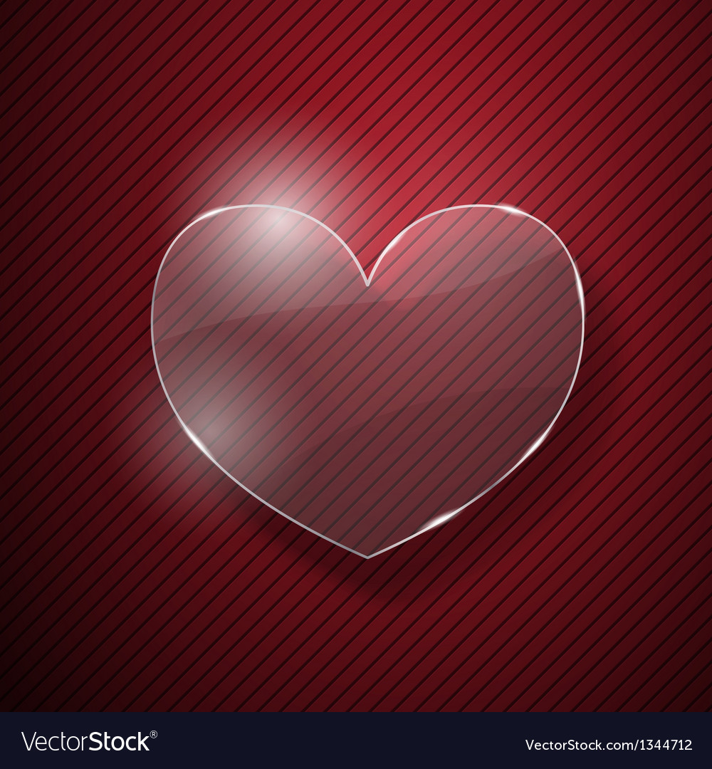 Heart from glass vector | Price: 1 Credit (USD $1)