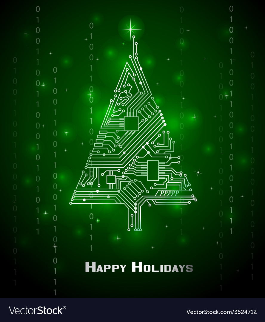 Hi-tech christmas tree vector   Price: 1 Credit (USD $1)