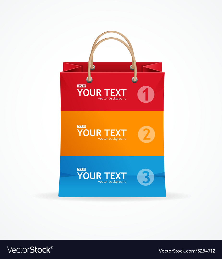 Paper bag like option banner vector | Price: 1 Credit (USD $1)