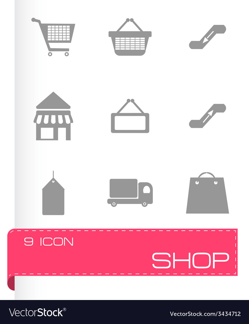 Shop icons set vector | Price: 1 Credit (USD $1)
