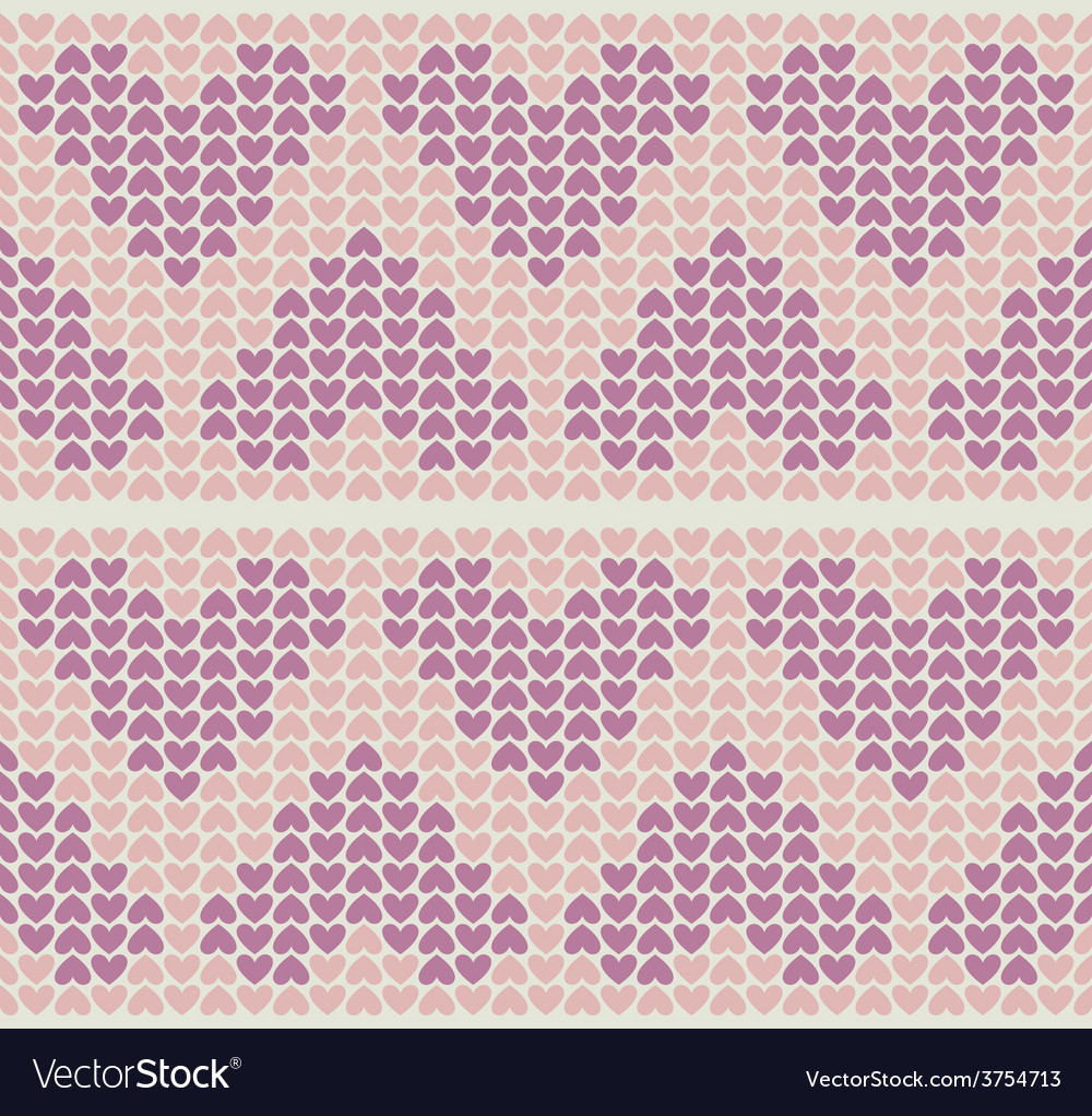 Band pattern with little hearts vector | Price: 1 Credit (USD $1)