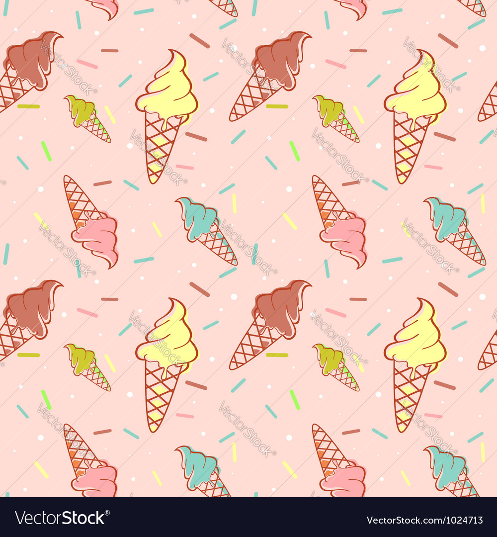 Colorful melting ice-cream seamless vector | Price: 1 Credit (USD $1)