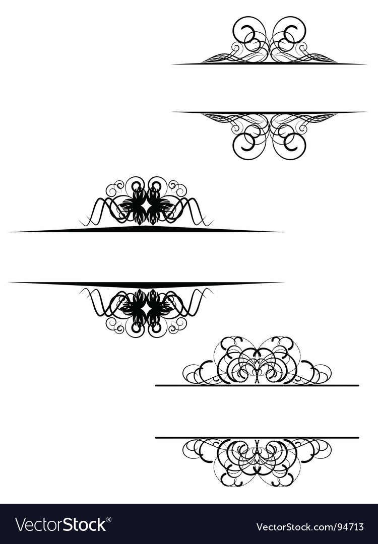 Decorative scroll vector | Price: 1 Credit (USD $1)