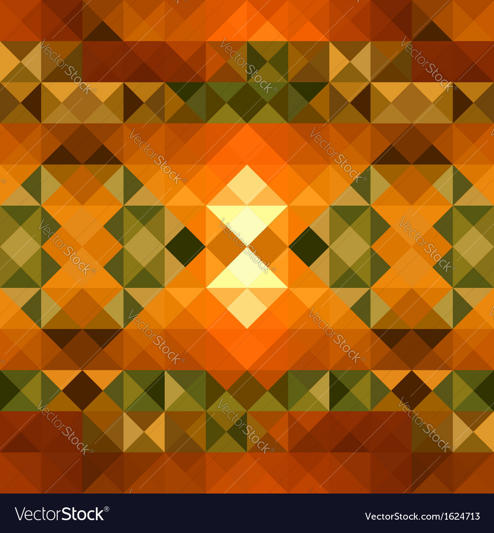Fall season triangle seamless pattern background vector | Price: 1 Credit (USD $1)