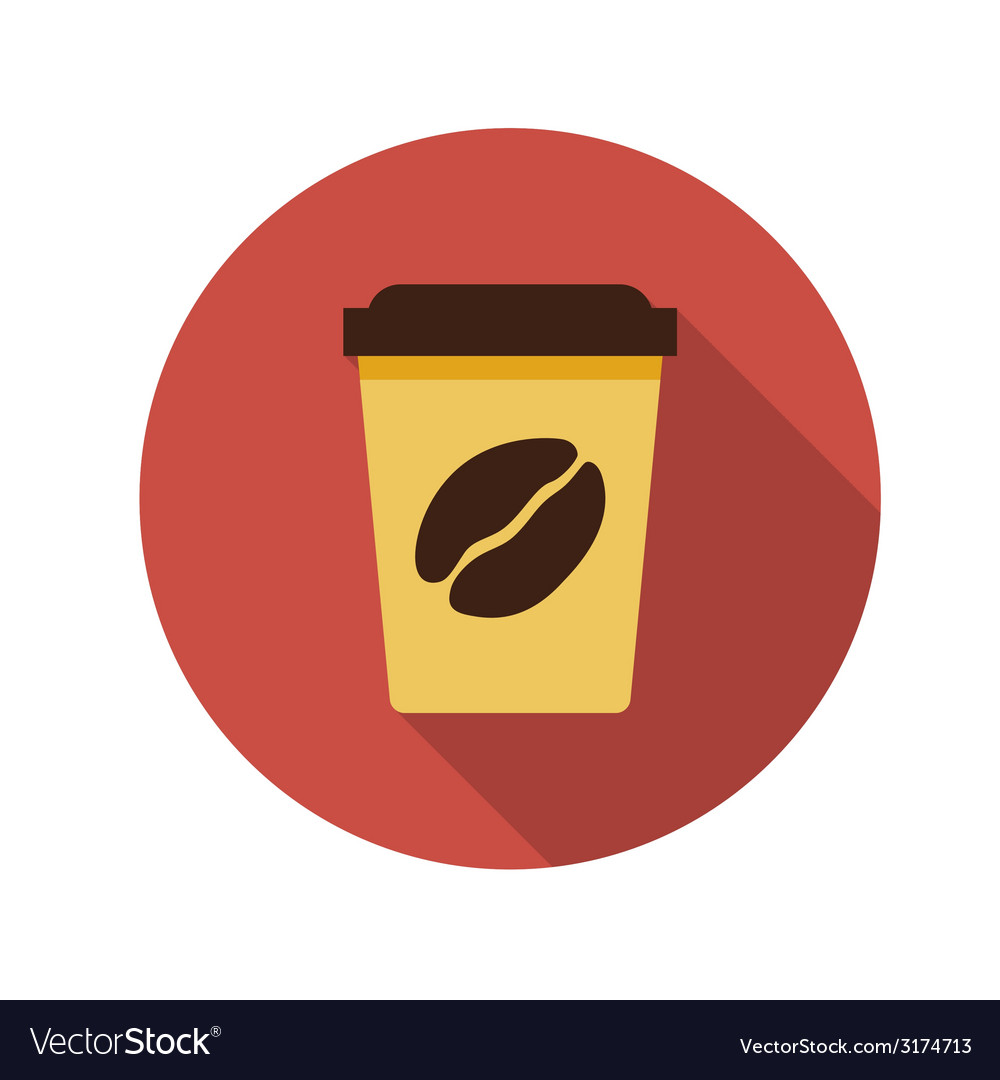 Flat design concept coffee with long shadow vector | Price: 1 Credit (USD $1)