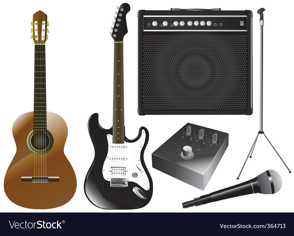 Guitar and music equipments vector | Price: 1 Credit (USD $1)