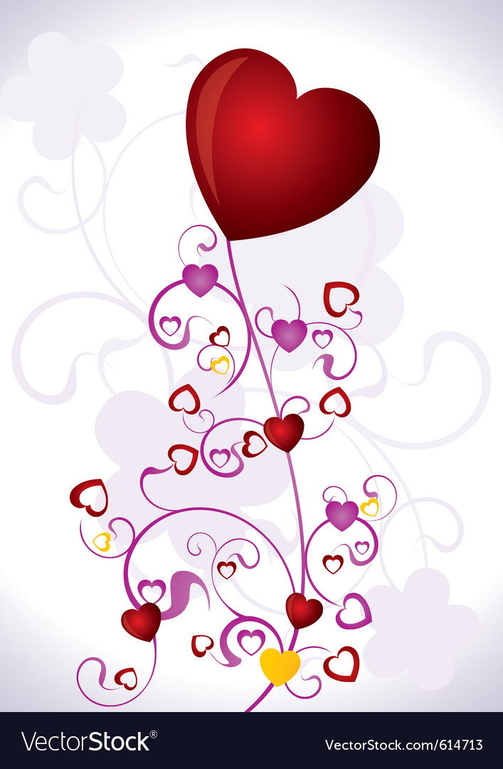 Heart valentines day background vector | Price: 1 Credit (USD $1)