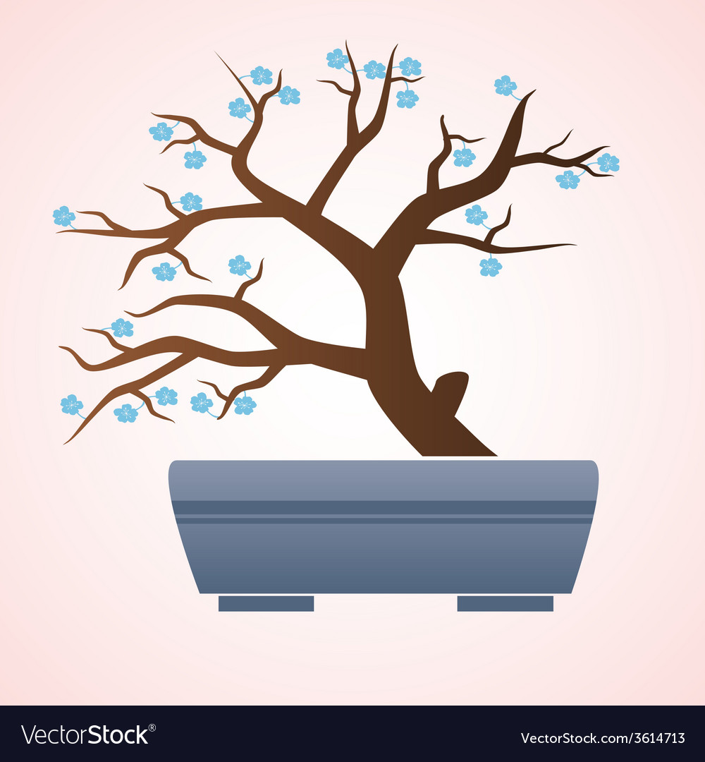 Japan or china bonsai small tree in pot eps10 vector   Price: 1 Credit (USD $1)