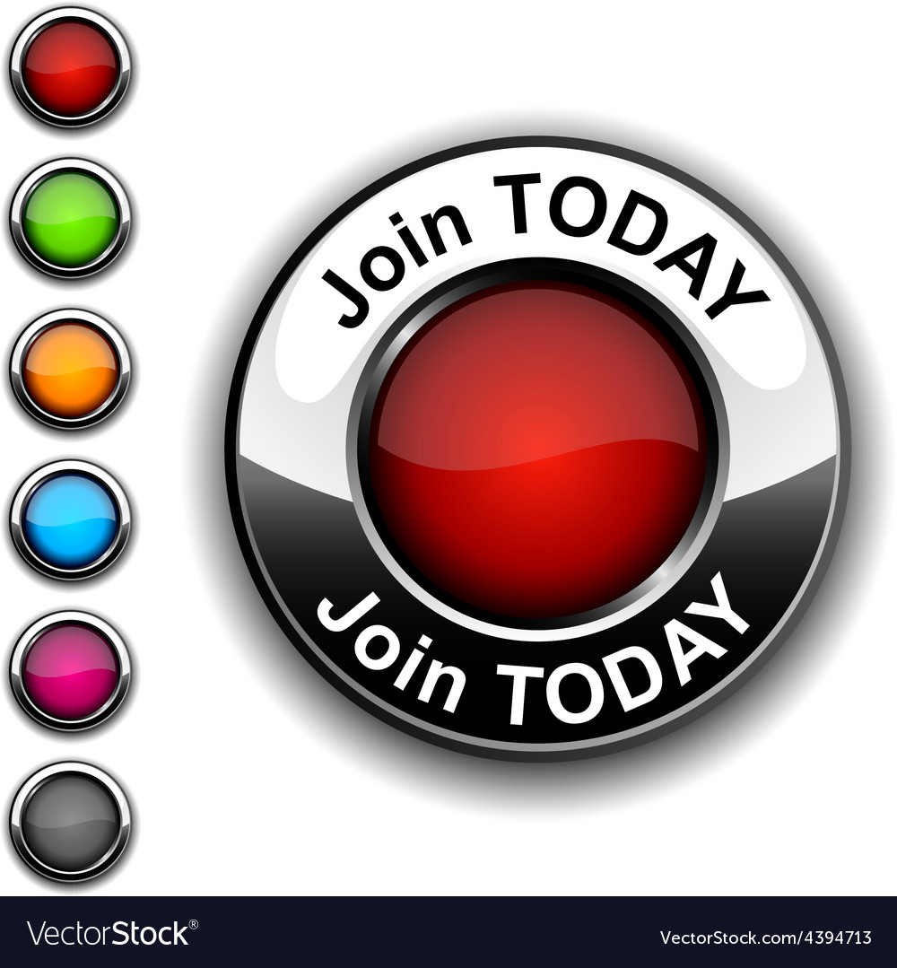 Join today button vector | Price: 1 Credit (USD $1)