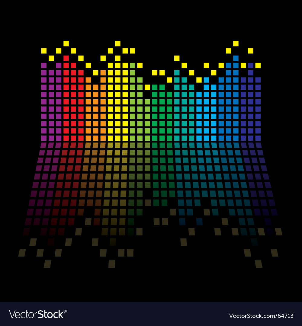 Rainbow equaliser vector | Price: 1 Credit (USD $1)