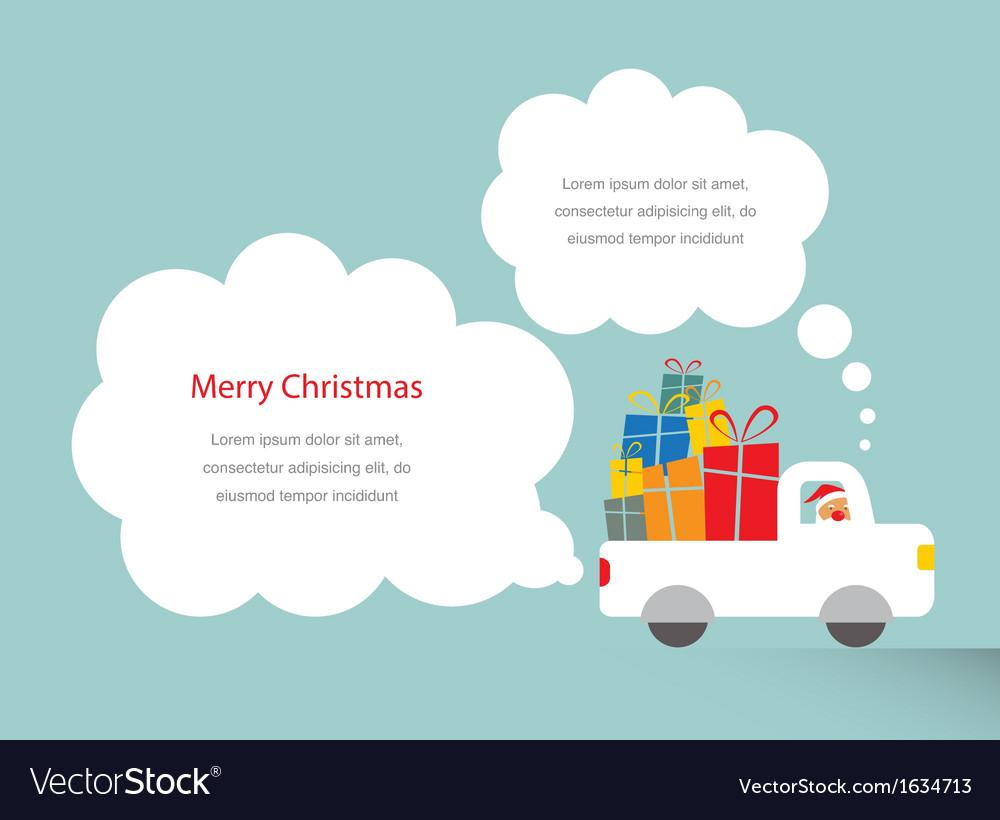 Santa driving a trank full of presents vector   Price: 1 Credit (USD $1)