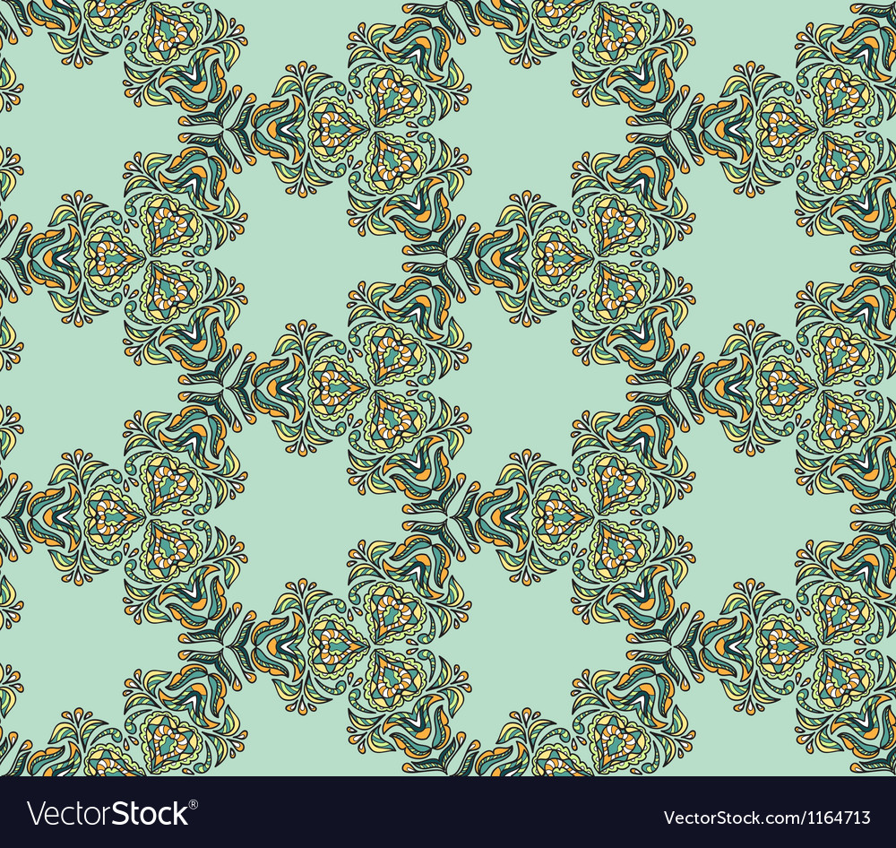Seamless abstract kaleidoscope pattern vector | Price: 1 Credit (USD $1)