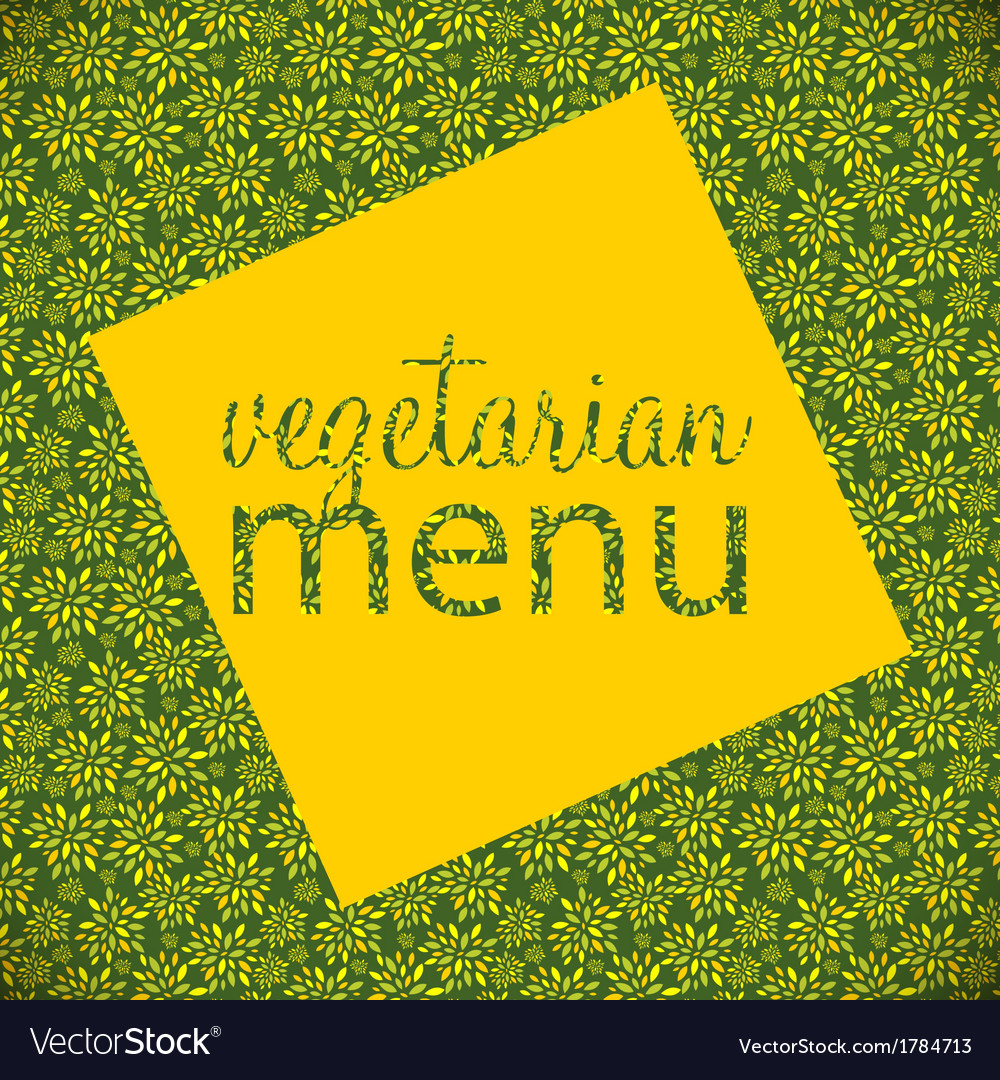 Vegetarian menu template vector | Price: 1 Credit (USD $1)