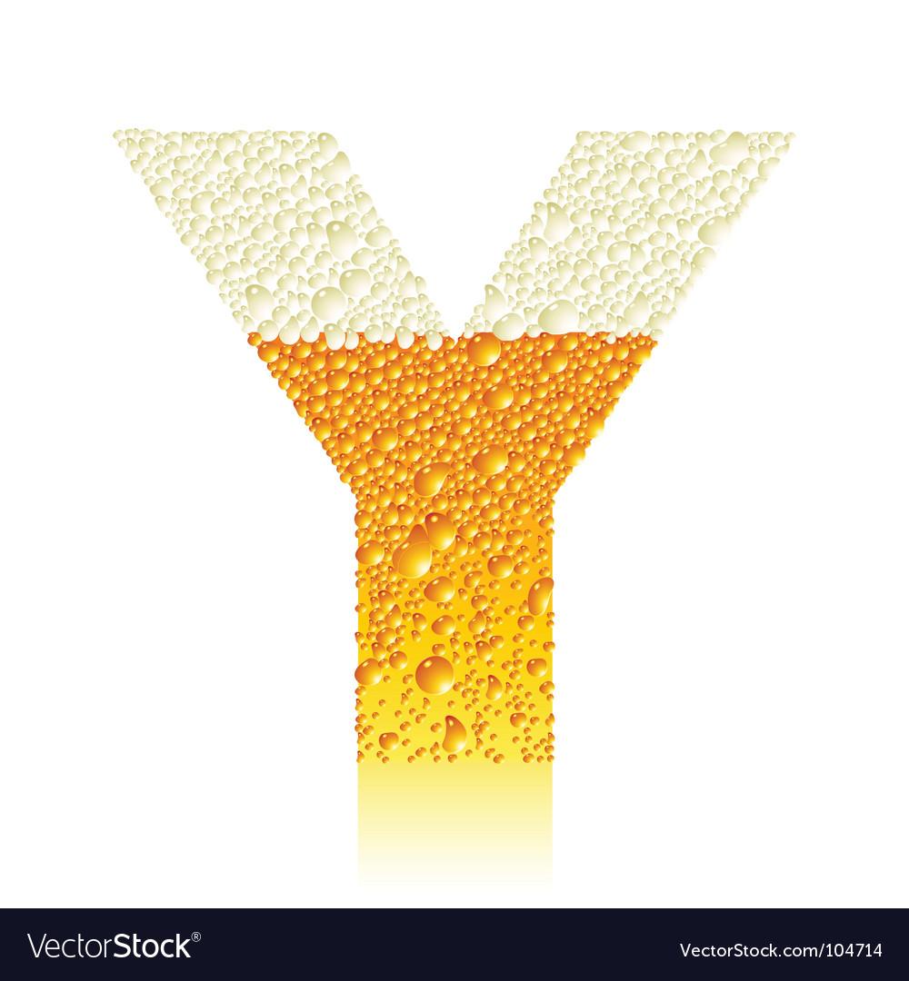 Alphabet beer y vector | Price: 1 Credit (USD $1)
