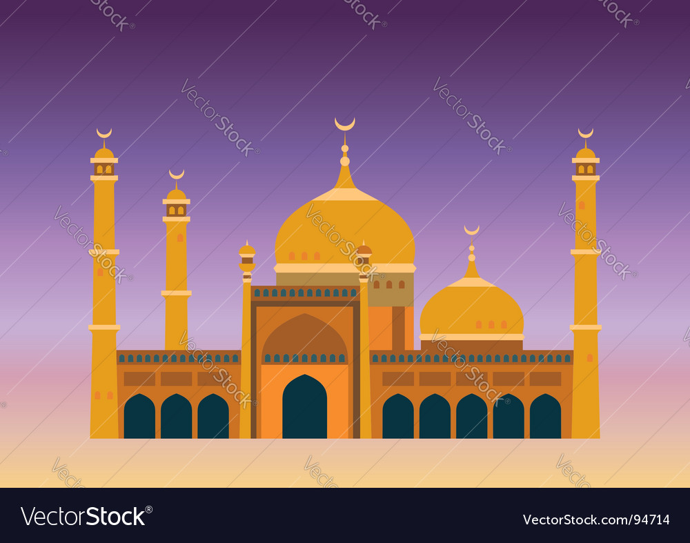 Arabian mosque vector | Price: 1 Credit (USD $1)