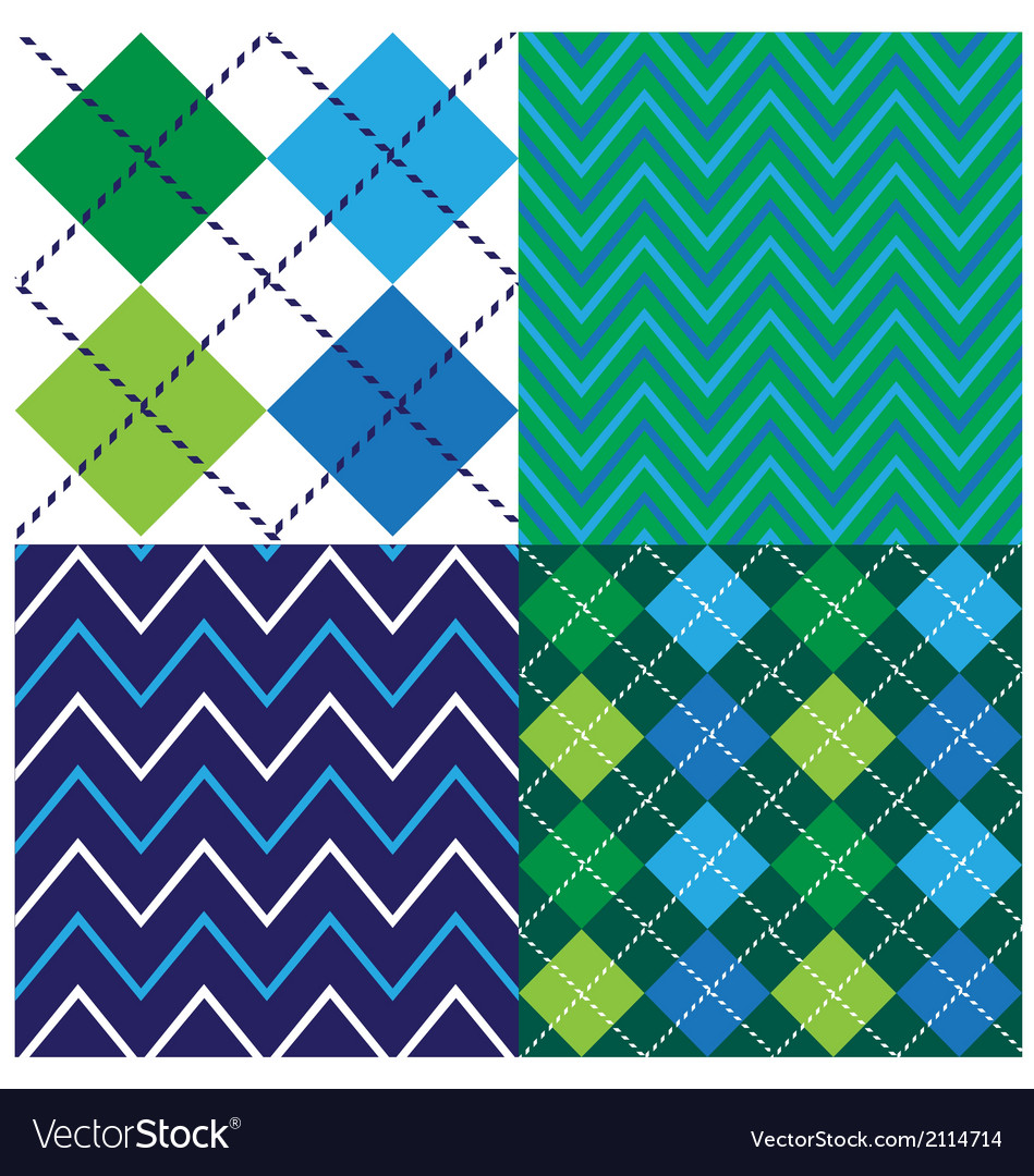 Argyle design set vector | Price: 1 Credit (USD $1)