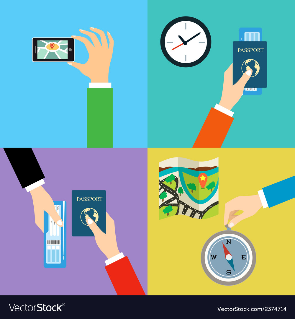 Business hands travel vector | Price: 1 Credit (USD $1)