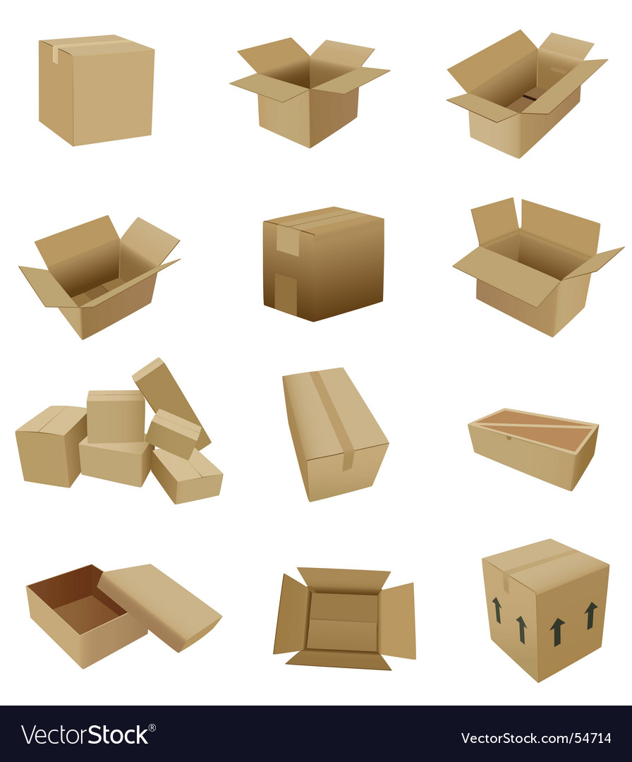 Cardboard set vector | Price: 3 Credit (USD $3)