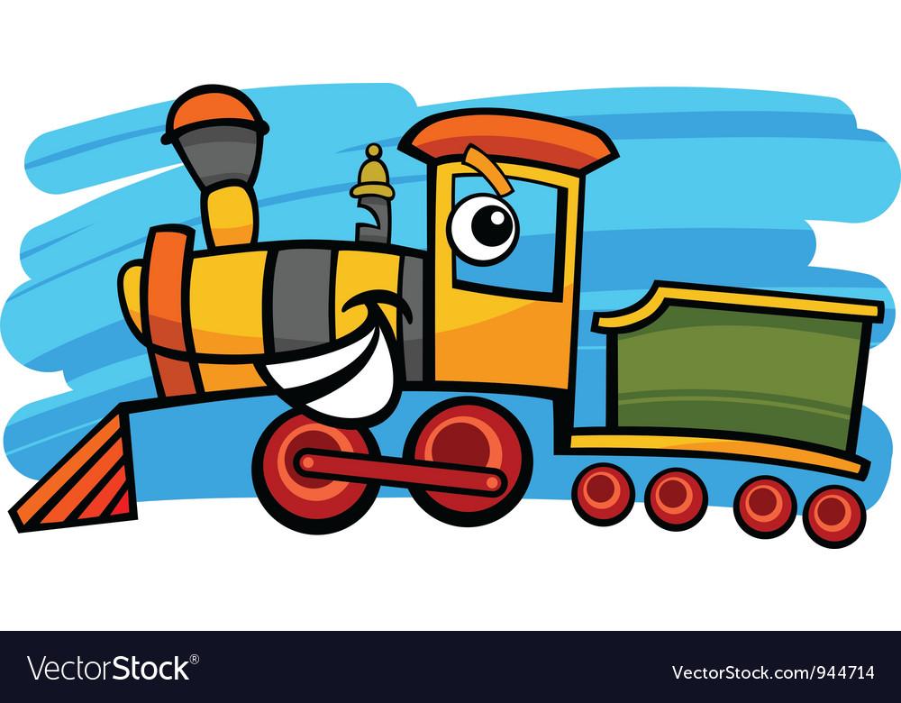 Cartoon locomotive or train character vector | Price: 1 Credit (USD $1)