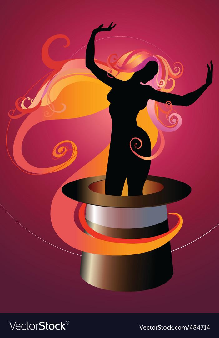 Girl dancing vector | Price: 1 Credit (USD $1)