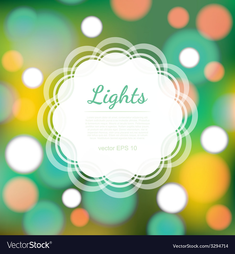 Magical festive background with bright lights vector | Price: 1 Credit (USD $1)