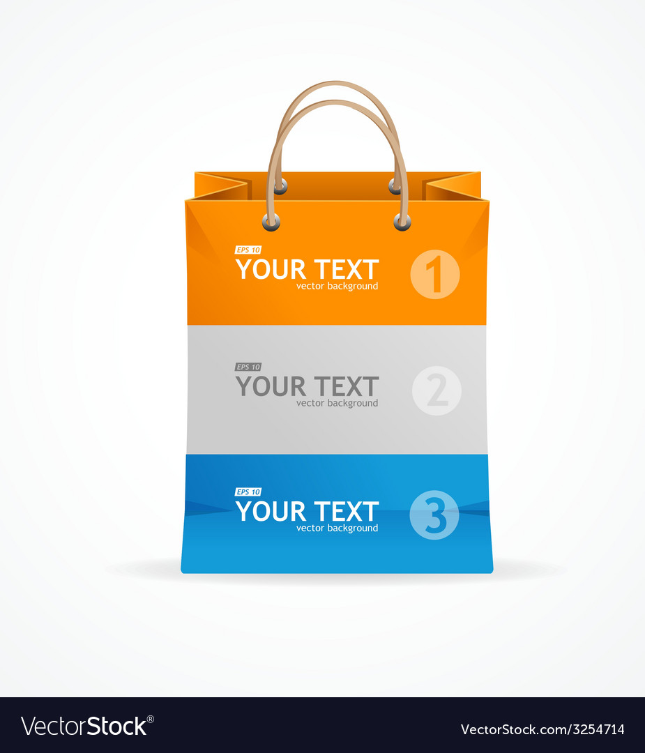 Paper bag like option banner vector | Price: 1 Credit (USD $1)