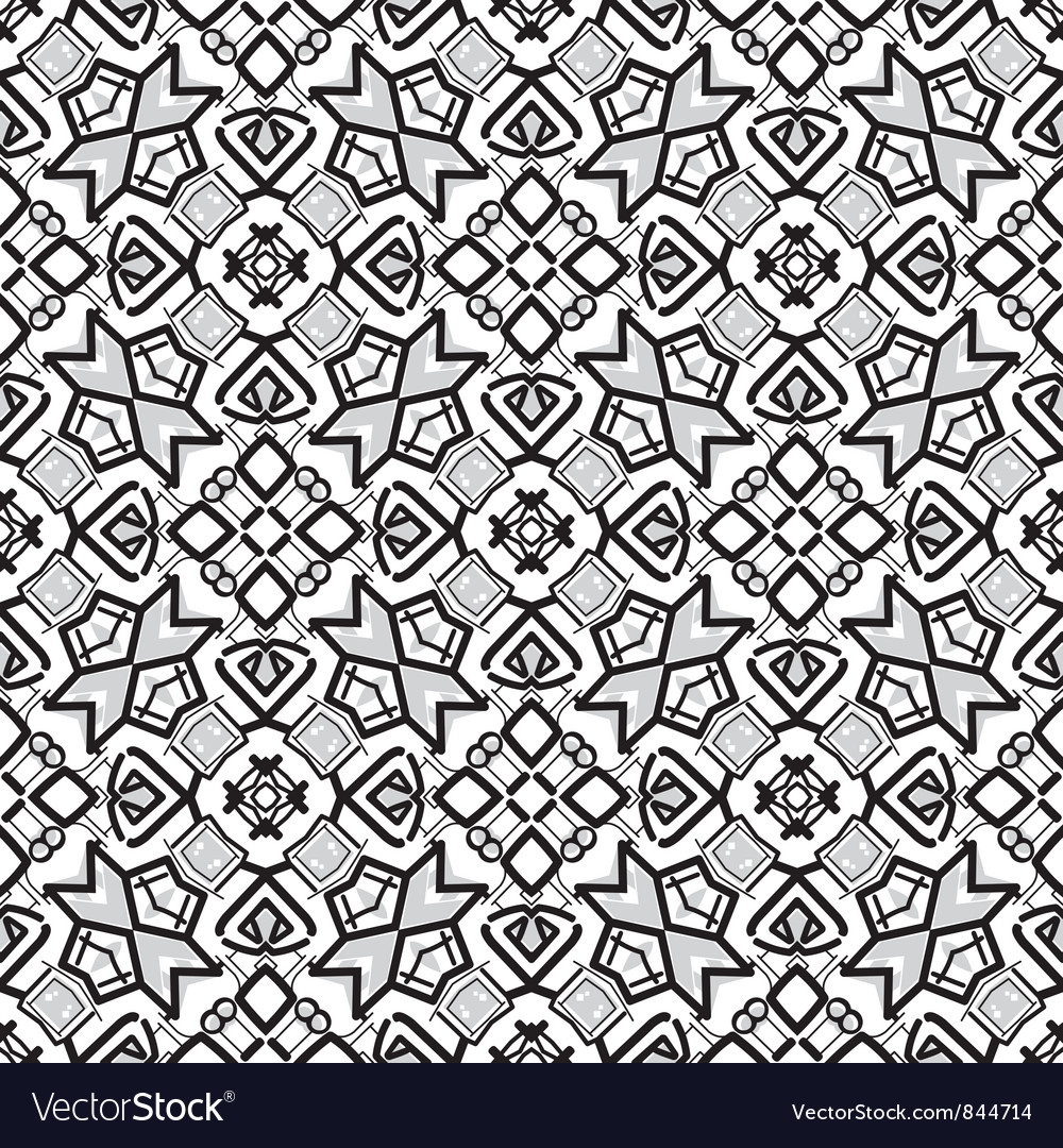 Retro ornamental seamless pattern vector | Price: 1 Credit (USD $1)