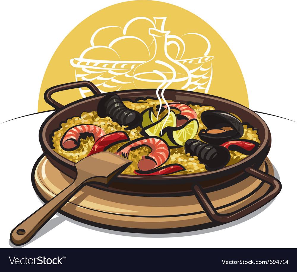 Spanish paella vector | Price: 3 Credit (USD $3)