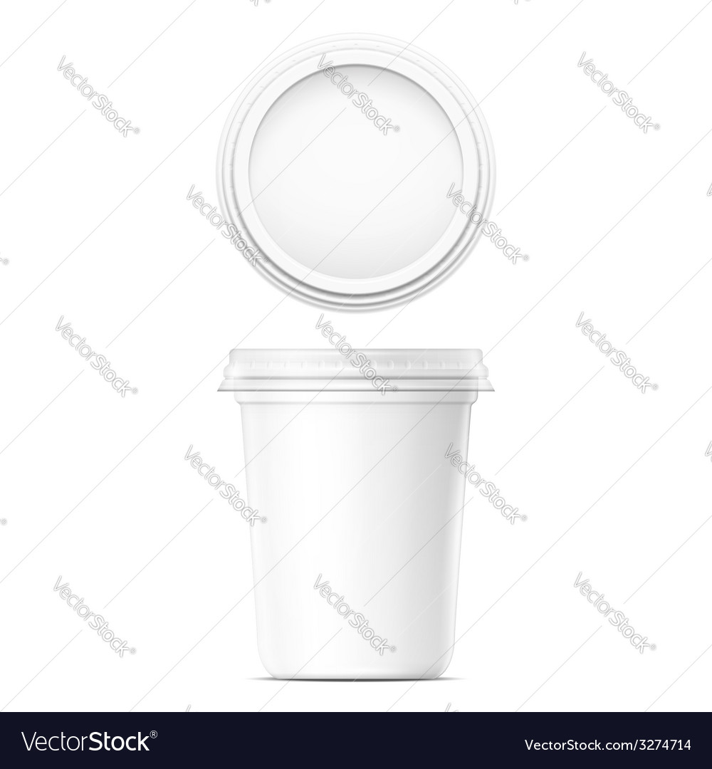 White cream pot template vector | Price: 1 Credit (USD $1)
