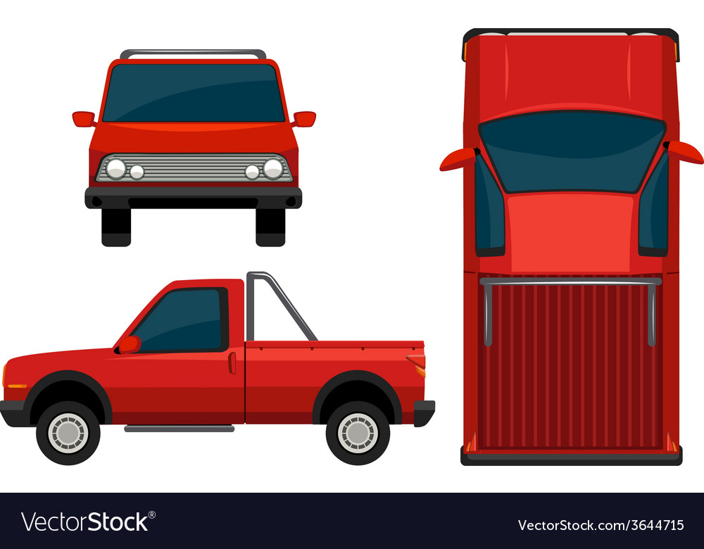 A red vehicle vector | Price: 1 Credit (USD $1)