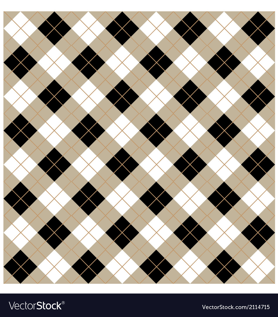 Argyle seamless diamonds vector | Price: 1 Credit (USD $1)