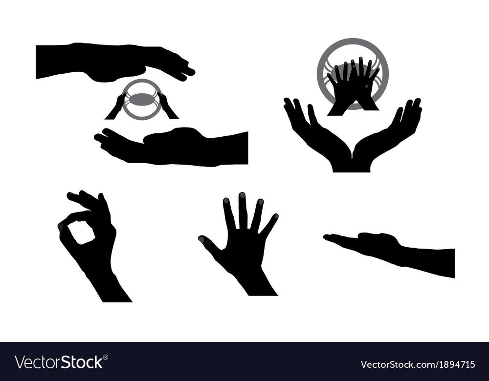 Black set of hand vector | Price: 1 Credit (USD $1)