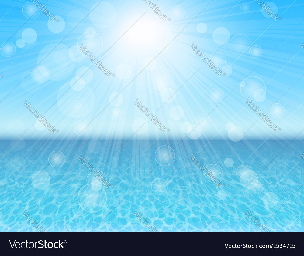 Blue sea abstract background vector | Price: 1 Credit (USD $1)