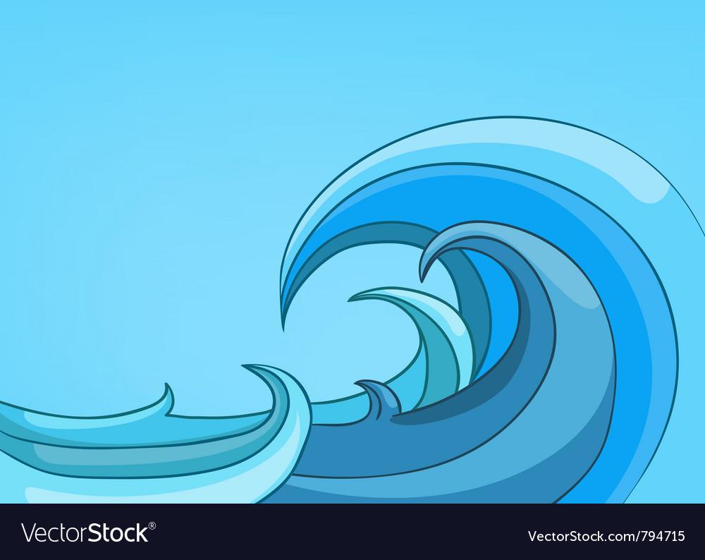 Cartoon nature landscape sea vector | Price: 1 Credit (USD $1)