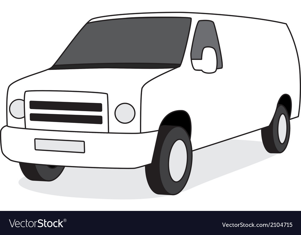 Delivery van front view vector | Price: 1 Credit (USD $1)