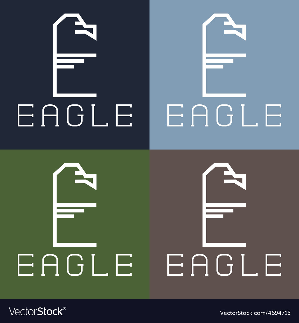 Eagle monogram vector | Price: 1 Credit (USD $1)