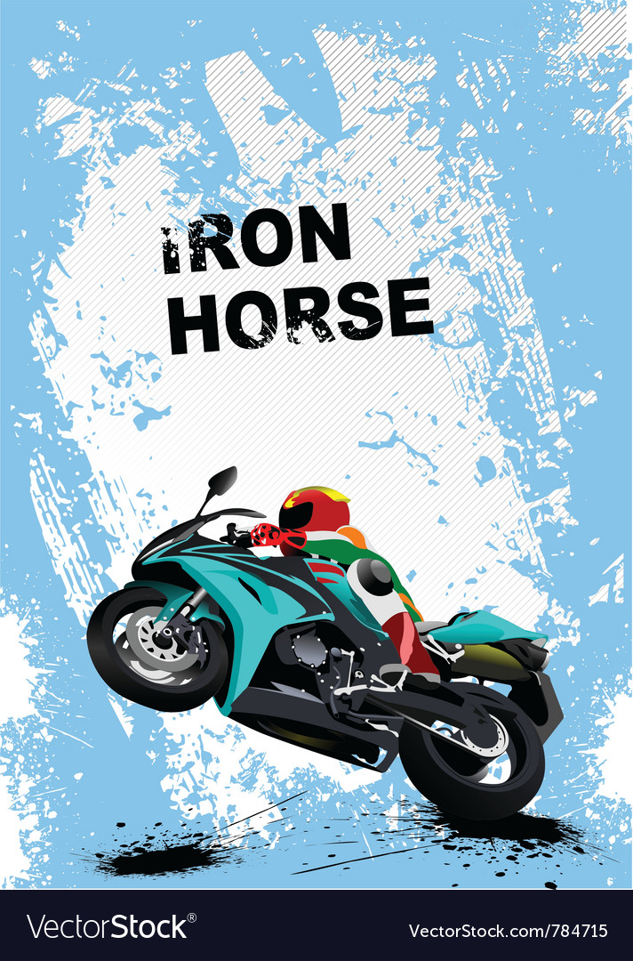Iron horse vector | Price: 1 Credit (USD $1)